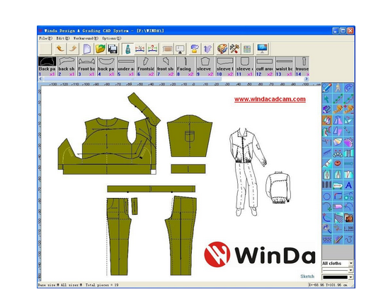 Winda garment cad software