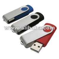 Swivel USB thumb drive, memory flash stick