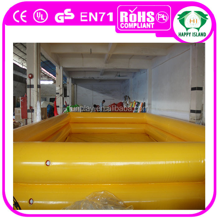 2016 Popular games play inflatable pool ,boat pool,large outdoor swimming pools