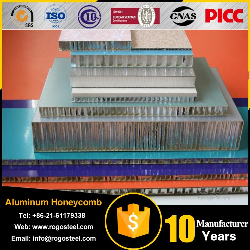 Cell size 0.56mm-28mm aluminum honeycomb core for laser cutting machines with Aluminum foil A3003