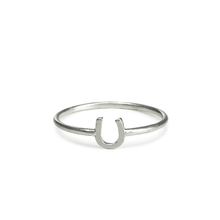 Custom delicate jewelry stainless steel silver horseshoe ring