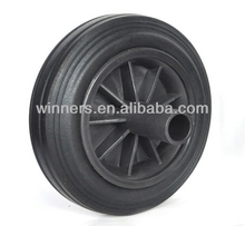 dustbin PU solid rubber wheel 7x1.75