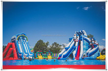 Outdoor Giant Inflatable Water Park Games For Kids And Adults, Water Sports Inflatable Aqua Fun Park