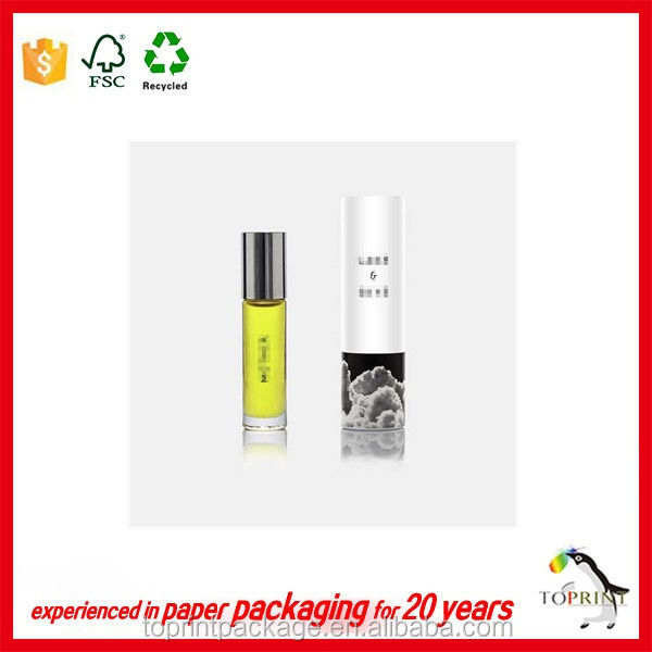 custom printing paper tube gift box for skin care perfume with insert