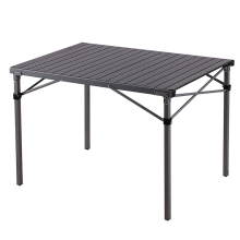 Compact Folding Table - Aluminum Table Top, Deluxe Camping Table