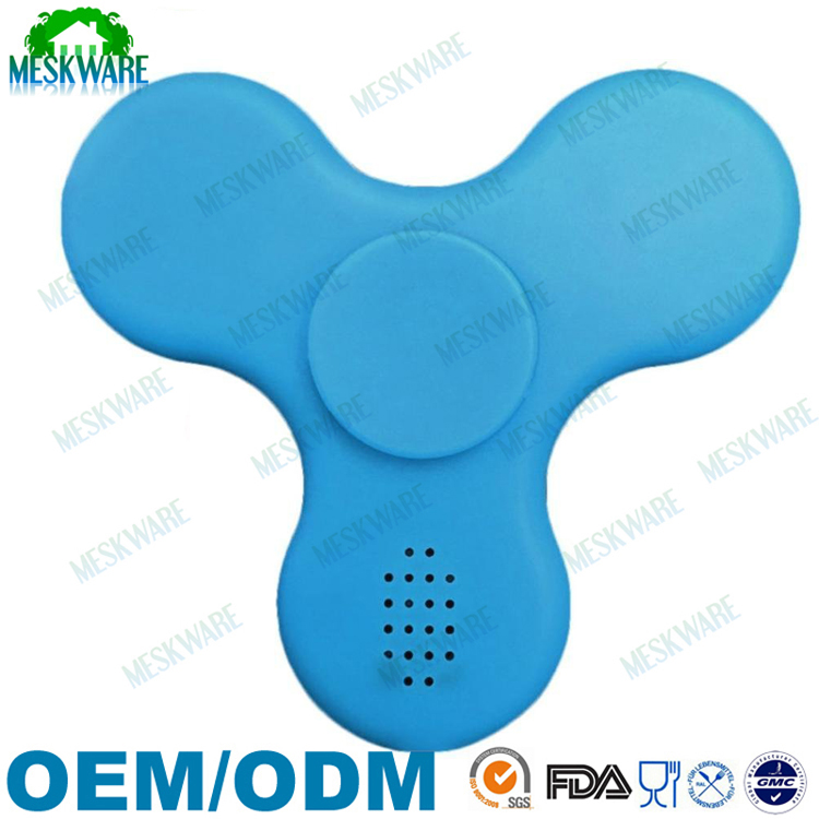 LED light up rechargeable hand spinner bluetooth fidget word for kids and adults