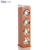 KBQ-801 4000mAh Wooden Tower floor standing bluetooth speakers with microphone /power bank