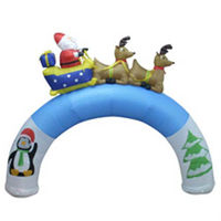 Air blown inflatables christmas arch and halloween