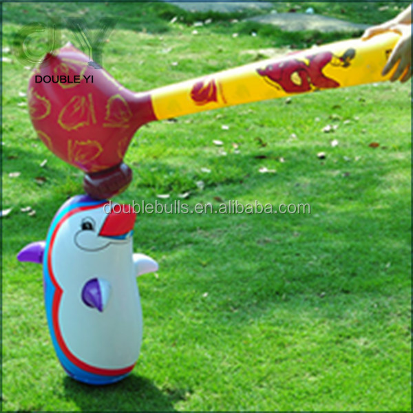 wholesale Kids inflatable toys funny animal shape PVC plastic hammer toys