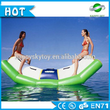 Summer water sport games inflatable water seesaw,used inflatable seesaw for sale