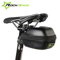 ROCKBROS Carbon Pattern Waterproof Outdoor Sports For All Bike Bicycle Seatpost Cycling Cycle Portable Saddle Bag,tail bag