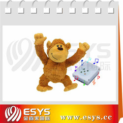 Stress sound plush monkey toy push plus monkey toy
