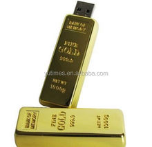 High quality free sample low price wholesale usb flash drive gold bar