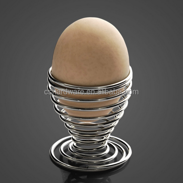 Classic Stainless Steel Spring Wire Tray Egg Cup Boiled cooking portable Egg Holder Stand