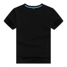 With best wearing concept cotton spandex t shirt for men in black colour