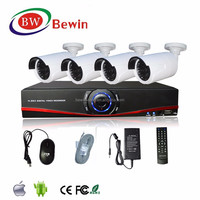 Security Monitoring System 4 CH 720P AHD DVR kit network nvr kit support POE P2P Standalone CCTV Camera NVR kit