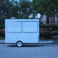 Modern Mini Spiral Chips Potato Truck Kiosk Cart Maker with Tow bar