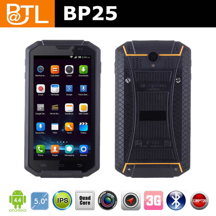 WDF9 BATL BP25 android 4.4.2 nfc 3 quad core IP67 4000mah 2+8mp waterproof mobile phone for warehouse management