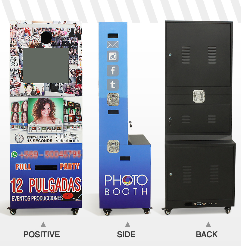 19 Inch Wedding Hahstag Printer Photo Booth Cheap Self-service Photobooth
