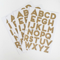 Letter Stickers Glitter Alphabet Stickers With Popular Gold Pink Colors