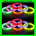 custom print glow stick, logo printing glow bracelet, 8inch light up wristbands
