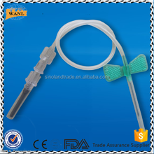 Disposable butterfly type vacuum blood collection needles