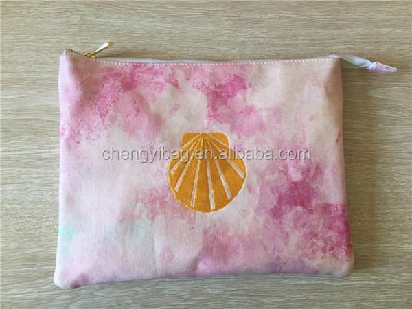 Gradient 12 oz clutch bag canvas printing  handbags Pouch With Customize Logo