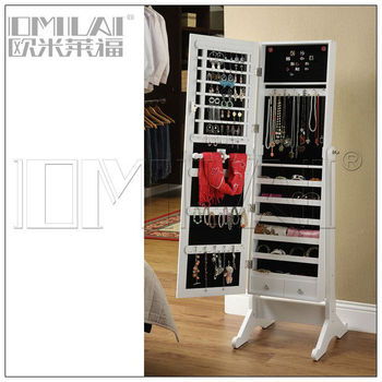 free standing floor mirror with jewelry cabinet