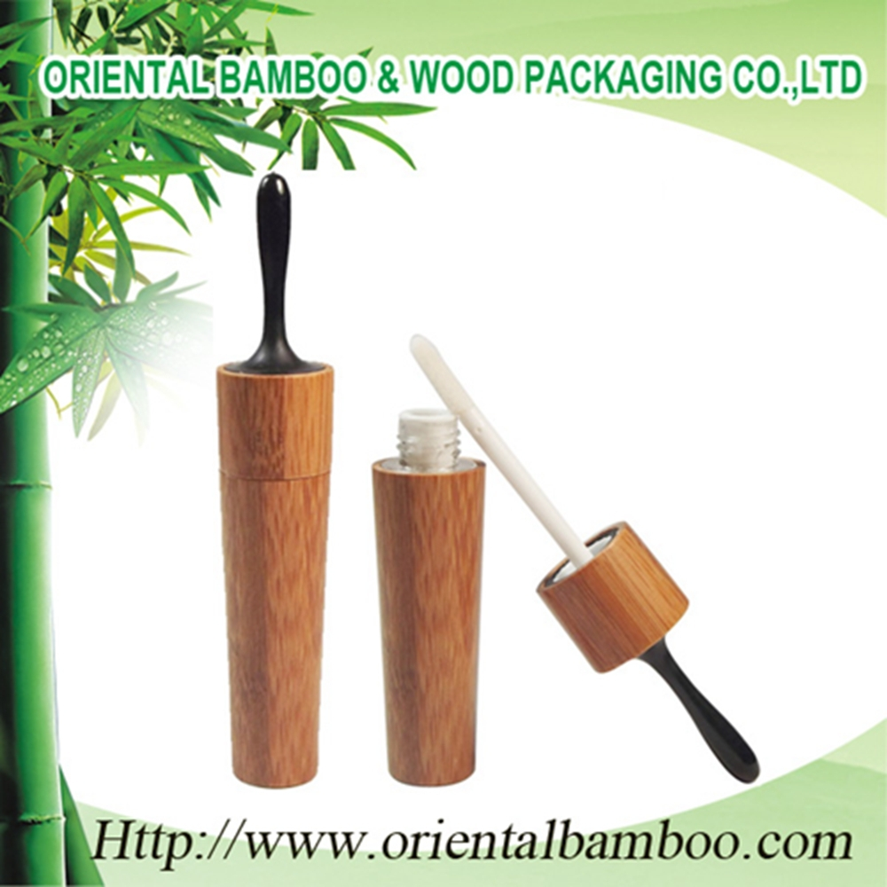 BLM-021A Hot selling bamboo lipgloss tube for cosmetic