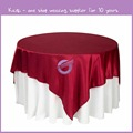 TP08182 High quality satin table cloth for wedding decoration