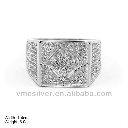 RZQ-0068 925 Sterling Men Silver Ring 925 Sterling Silver Man Ring Wholesale Ring