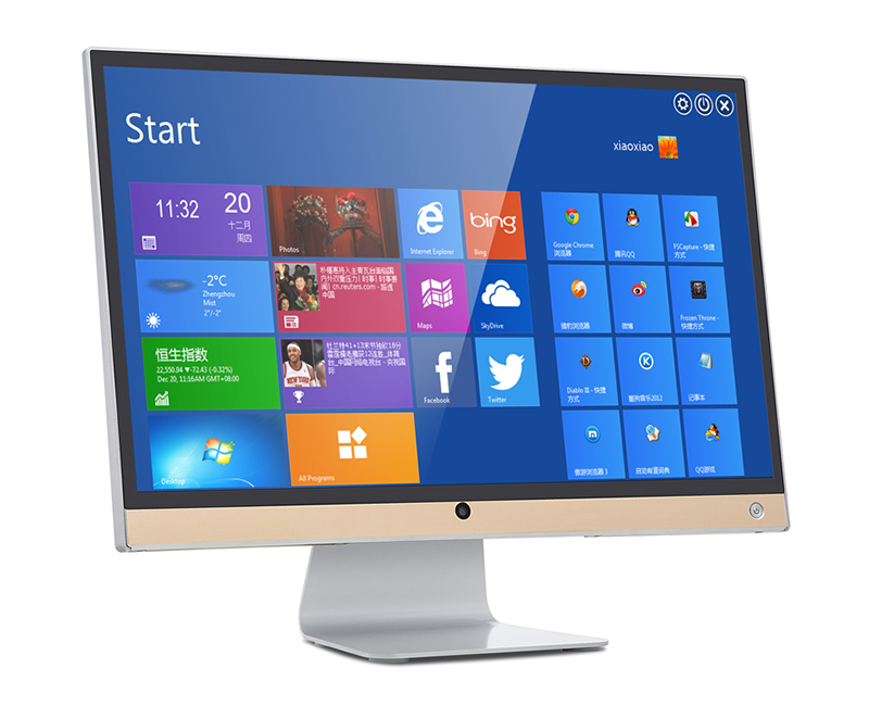 23.6 inch led desktop monitor 1920*1080 Hd all in one pc computer