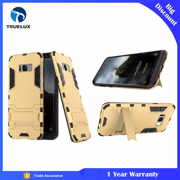 Shockproof TPU PC Armor Case With Stand For Samsung Galaxy S8