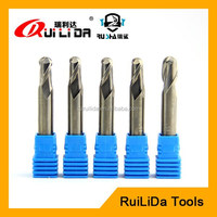 Uncoated Diameter 5mm carbide ball nose end mill cutter for cutting Aluminium