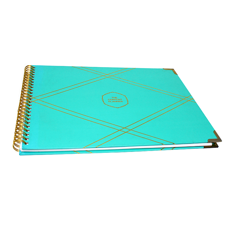 2020 cheap reusable daily agenda planner note book custom A5 spiral journal notebook printing