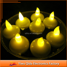 amber flashing light waterproof floating candle led light candle