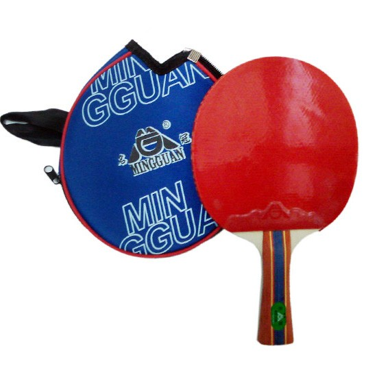 hot sale high quality custom logo print table tennis ping pong racket bat paddle rackets 2-star quality rubber for sale.