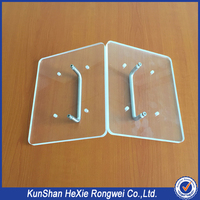 Custom factory hard perforated transparent plastic sheets parts