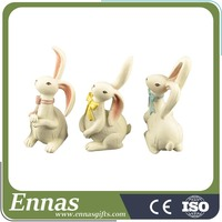 New Fashionable White Funny Resin Animal