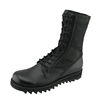 Corrected leather and canvas fabric military police boots