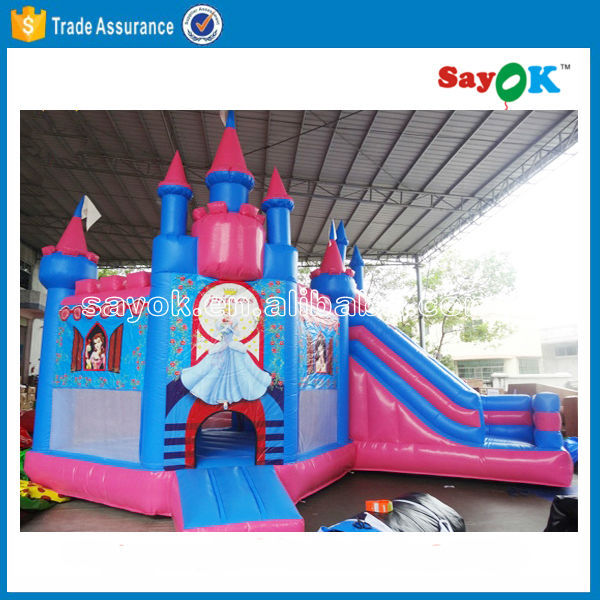 PVC inflatable princess bouncy jumping castle for sale