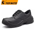 Low ankle oil resistant genuine leather work safety shoes for men