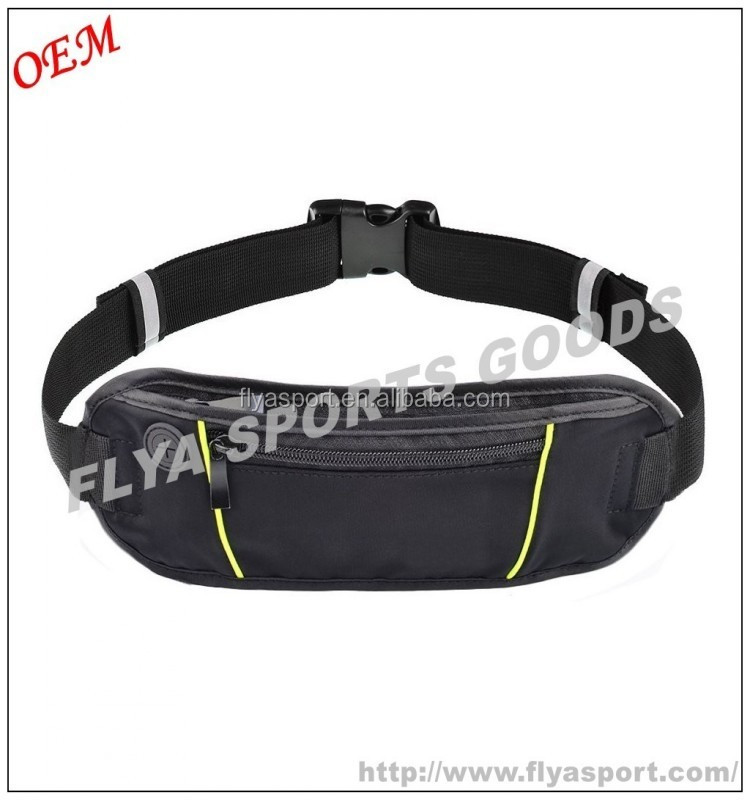 high capacity with earphone cord waterproof sport fitness running belt waist pack