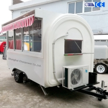 CP-C340200240 alibaba hot sale white fast food mobile kitchen trailer sandwich icecream food trailer sale Malaysia