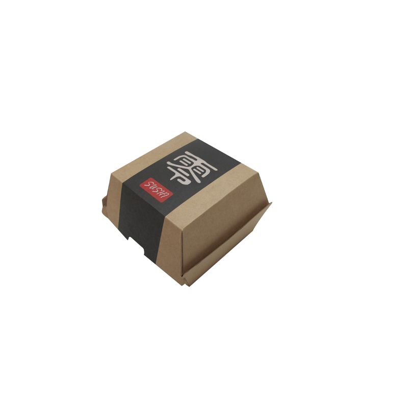 Custom Printed Brown Kraft Paper Packaging Burger box wholesale