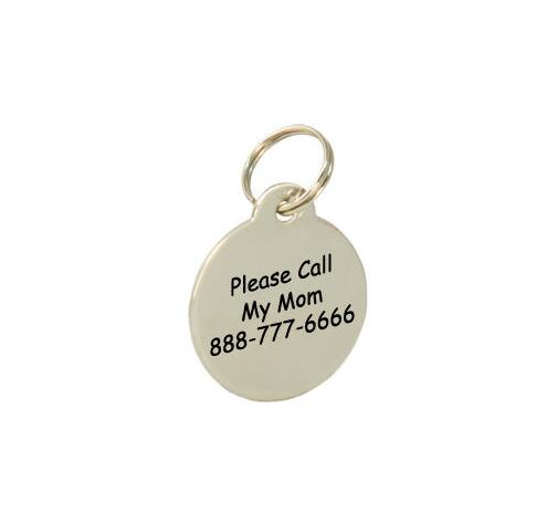 Stainless Steel Dog Tag Cat Tag Pet ID Name Tag