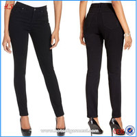 Professional Supplier Bulk Buy Women Curvy-Fit Skinny Jeans Black Denim Jean for Lady