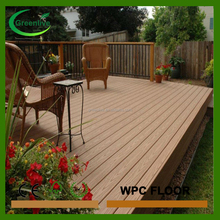 In spain external wpc decking floor