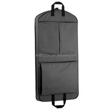 pvc suit cover plastic, canvas military suit bags, zipper closure garment bag