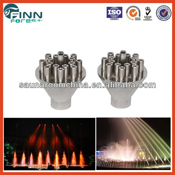 High qualiity stainless steel junping jet water fountain nozzle, factory make fountain nozzle